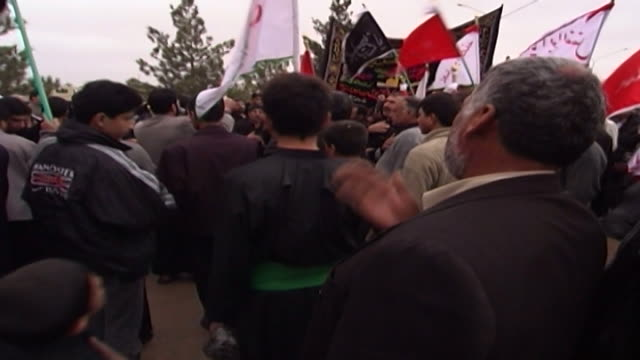 mcu view of men gathered to commemorate ashura ashura the tenth day of the islamic month of muharram commemorates the death of hussain ibn ali at the... - ashura muharram stock videos & royalty-free footage