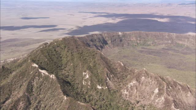 WS AERIAL View of menengai volcanic crater / Kenya