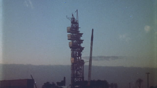 ws view of mercury series, atlas missile, being launched and blast-off - missile stock videos & royalty-free footage