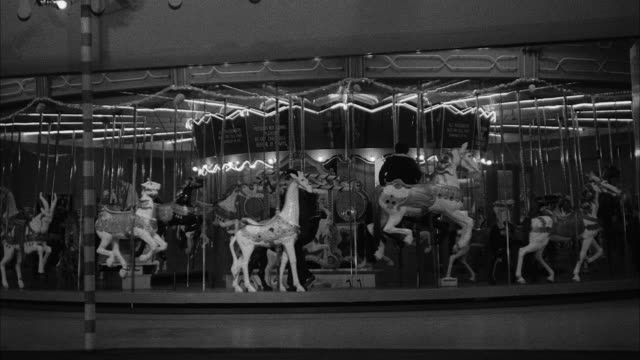 ms view of merry-go-round/ hollywood, california, united states - roundabout stock videos & royalty-free footage