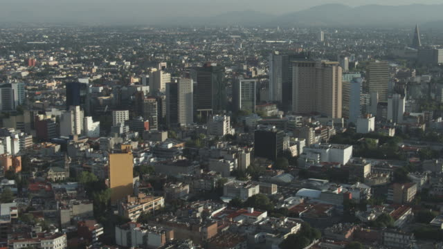 AERIAL WS View of mexico city / Mexico City, Distrito Federal, Mexico