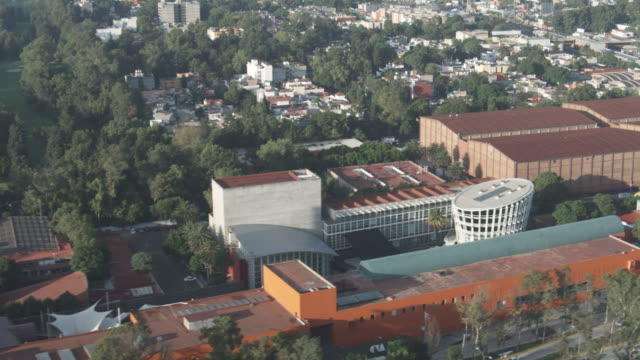 aerial ms view of mexico city / mexico city, distrito federal, mexico   - auditorium stock videos and b-roll footage