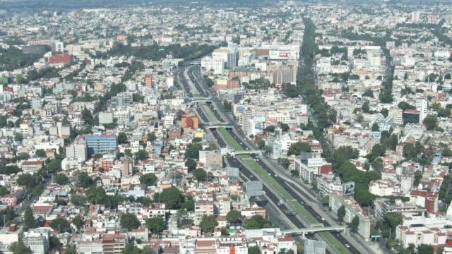 AERIAL WS TD View of mexico city / Mexico City, Distrito Federal, Mexico