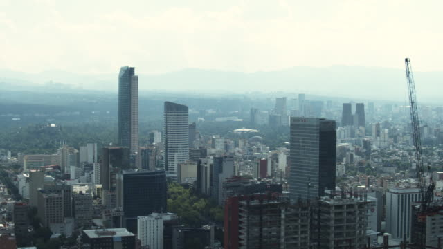 AERIAL MS View of  Mexico City / Mexico City, Distrito Federal, Mexico