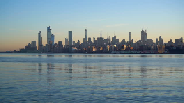 view of midtown manhattan skyline / new york city, ny, usa - real time stock videos & royalty-free footage