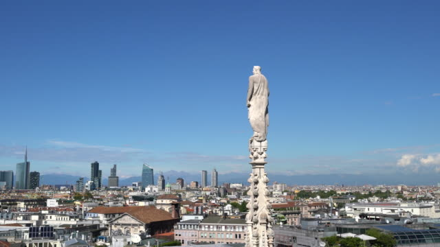 view of milan from the roof of the milan's cathedral - cathedral stock videos & royalty-free footage