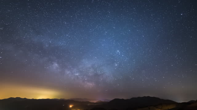 View of milky way in star field