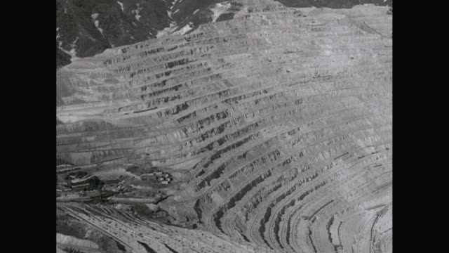 ws aerial pov view of mining area / united states - 1940 stock videos & royalty-free footage