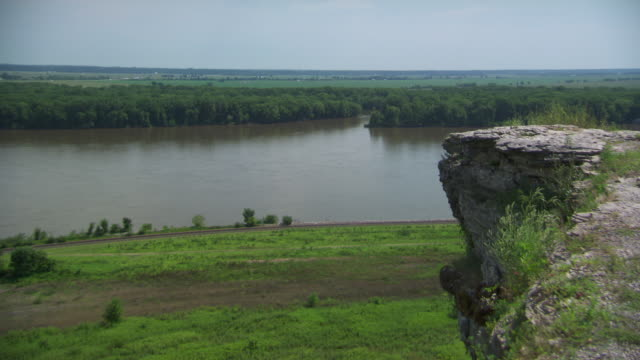 WS View of mississippi river / Rock Island, Illinois, United States