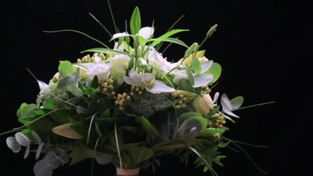 WS ZI  View of Mixed bouquet of white flowers  / London, United Kingdom
