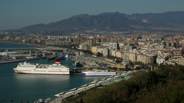 view of Málaga from Gibralfaro