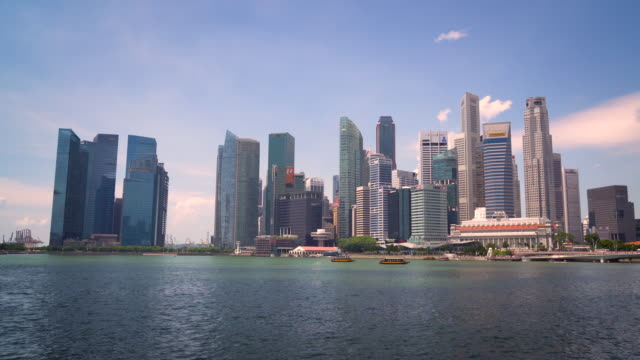 WS View of Modern Skyscrapers / Singapore