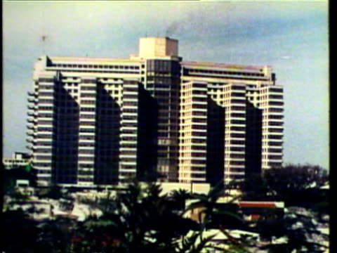1953 ws view of modern south american office buildings / montevideo, uruguay / audio  - モンテビデオ点の映像素材/bロール