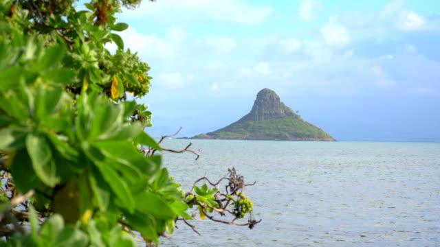 View of Mokolii Island on Hawaii in 4K  Slow motion