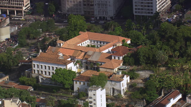 WS AERIAL View of Monastery of St. Benedict/ Rio de Janeiro, Brazil
