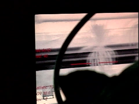 view of monitor screen inside stryker vehicle driving down road / baghdad iraq / audio - 2007 stock videos & royalty-free footage