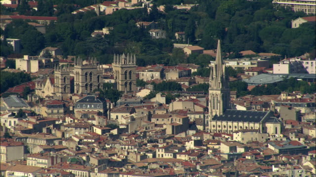 aerial, view of montpellier, languedoc-roussillon, france - モンペリエ点の映像素材/bロール