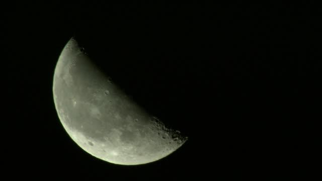 view of moon / hokkaido - half moon stock videos & royalty-free footage