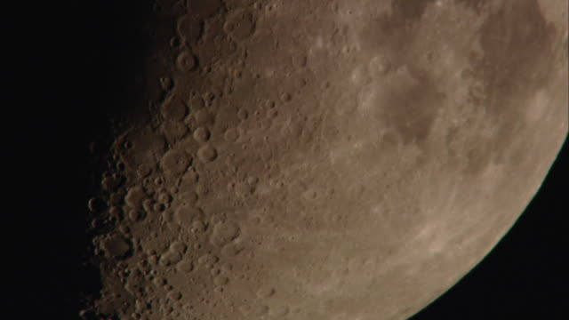 ecu view of moon surface / vienna city, vienna, austria - moon stock videos & royalty-free footage