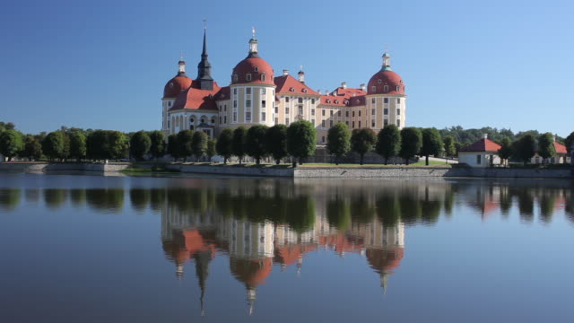 ws view of moritzburg castle / moritzburg , saxony, germany,     - german culture stock videos and b-roll footage