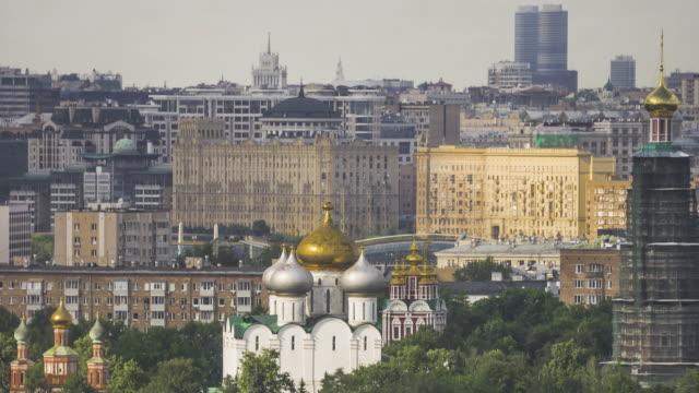Utsikt över Moskva kyrkor