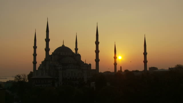 view of mosque in istanbul turkey - minaret stock videos & royalty-free footage