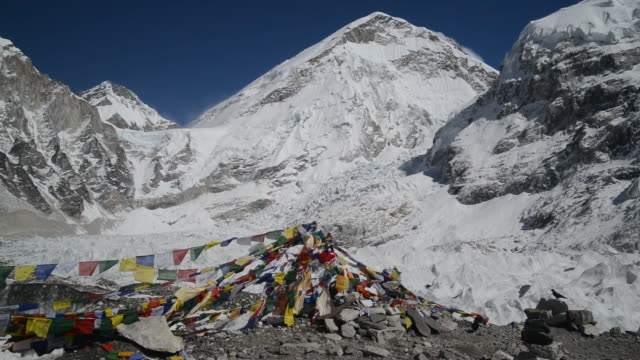 ws view of mount everest base camp/ mount everest, khumbu, nepal  - base camp stock videos and b-roll footage