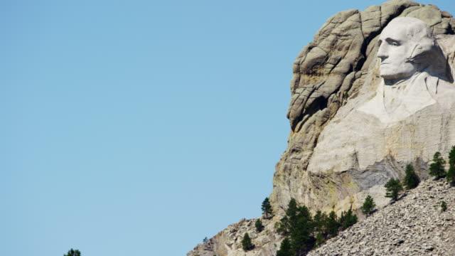 vidéos et rushes de view of mount rushmore national memorial dakota usa - président