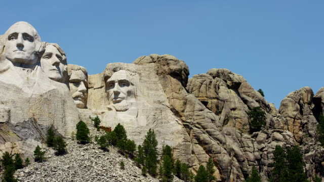 view of mount rushmore national memorial dakota usa - mt rushmore national monument stock videos and b-roll footage