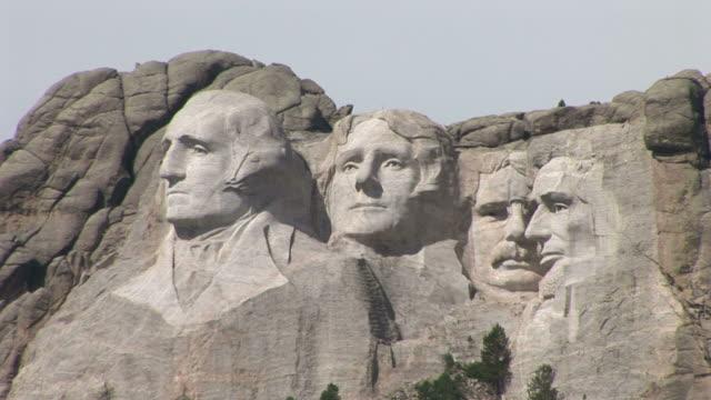 View of Mount Rushmore National Memorial in South Dakota United States