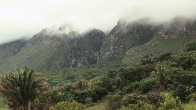 ws view of mountain and clouds / jacobina, bahia, brazil - bahia state stock videos & royalty-free footage