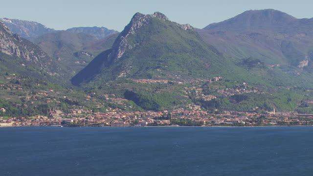 WS View of mountain and lake / Lake Garda, Trentino, Verona, Brescia
