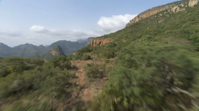ws aerial view of mountain range / mpumalanga, south africa - blyde river canyon stock videos and b-roll footage