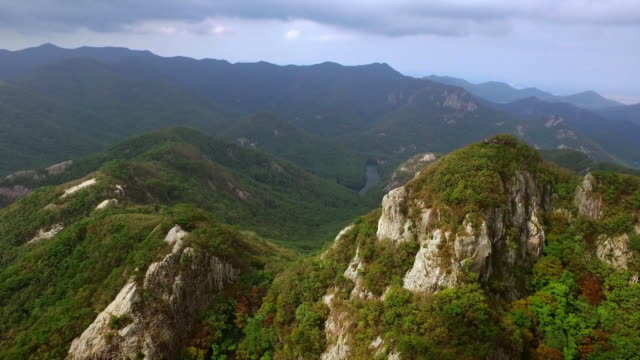 View of mountain range of Naebyeonsan (popular tourist attraction)