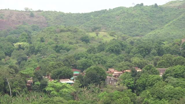 WS HA View of mountain surroundings / Serra Pelada, Para, Brazil