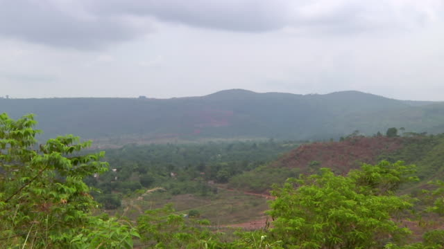 WS View of mountain surroundings / Serra Pelada, Para, Brazil