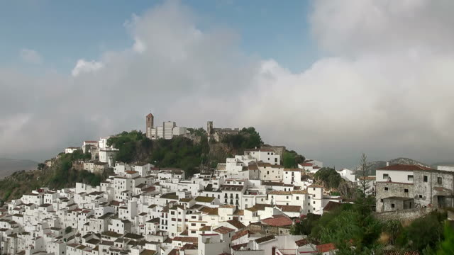 WS View of Mountain village Casares, Province de Malaga / Casares, Andalusia, Spain