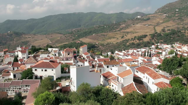 WS View of Mountain village Gaucin, Province of Malaga / Gaucin, Andalusia, Spain