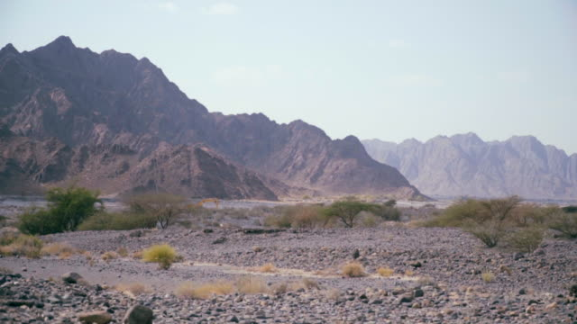 View of mountains above desert