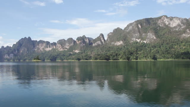 WS POV View of mountains in Khao Sok National park / Surat Thani, Thailand