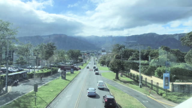 view of mountains in lindora, costa rica - san jose costa rica stock videos & royalty-free footage