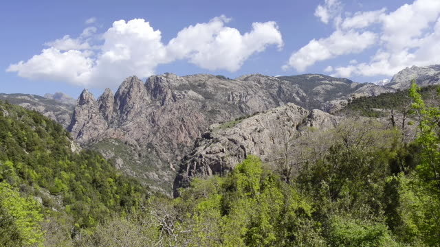 WS View of mountains in Spelunca canyon / Ota, Corsica, France