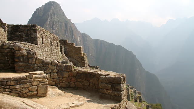 WS PAN View of Mountains / Machu Picchu, Peru