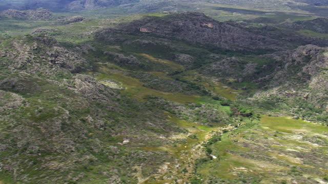 ws aerial view of mountains / minas gerais, brazil - minas stock videos and b-roll footage