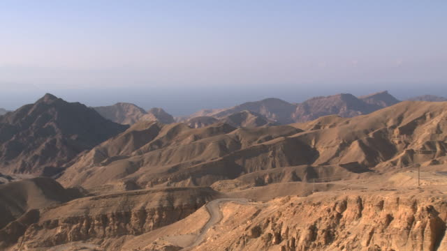 WS PAN view of mountains near Border with Egypt / Eilat, southern Negev, Israel