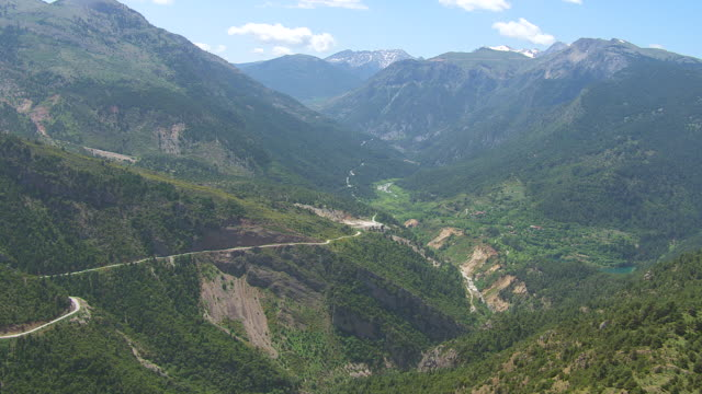 WS AERIAL View of mountains / Peloponnese, Greece