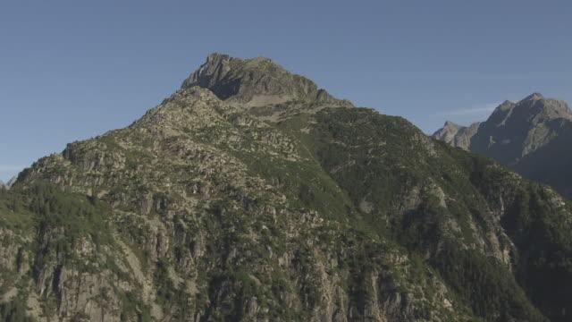 WS POV  View of mountains / Wassen, Uri, Switzerland