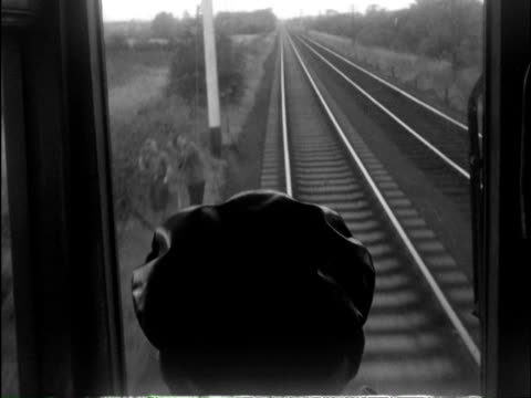 ms ts view of moving steam train / fairbourne, sutton, romney, hy and dymchurch, gwynedd, london, kent, wales, england - transport conductor stock videos & royalty-free footage