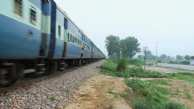 ws zo zi view of moving train / new delhi, india - delhi stock videos & royalty-free footage