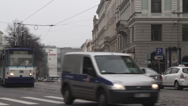 WS View of Moving train  / Riga, Latvia